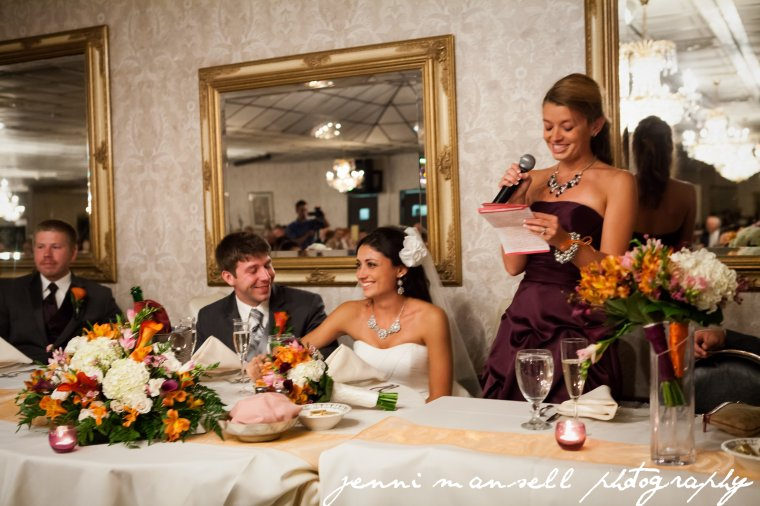 The matron of honor's speech