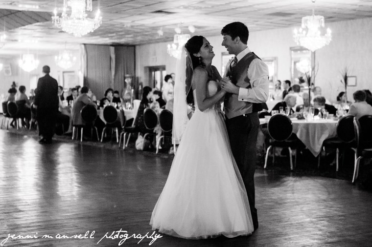Their first dance as bride and groom.
