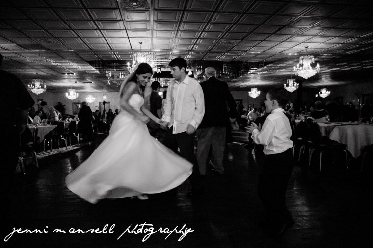One more of the bride and groom