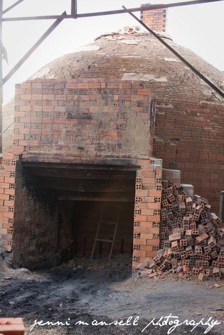 A brick kiln