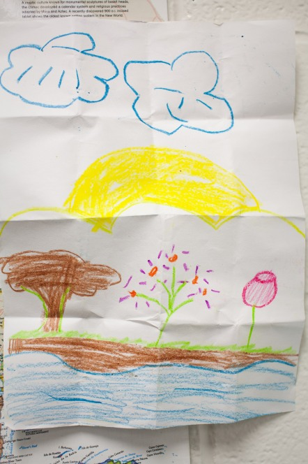 #15- A former student coming back to visit the evening of the parent meeting and drawing me a picture
