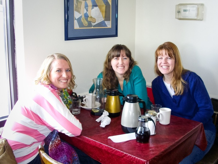 #26- A four hour brunch with college friends Kellie and Kendra
