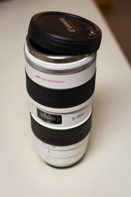 #30- My super expensive dream lens gift from my parents... or not.  Ok, so it's just a coffee mug, but it still makes me happy.  I'll get that lens someday.  :)