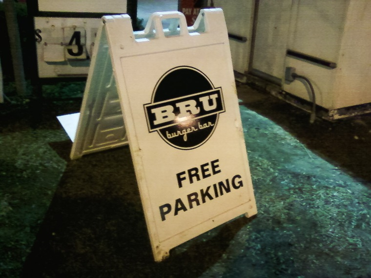 #4- Free parking and Bru Burger after the Ash Wednesday service at church.