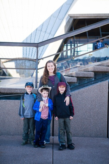 With my nephews by the opera house