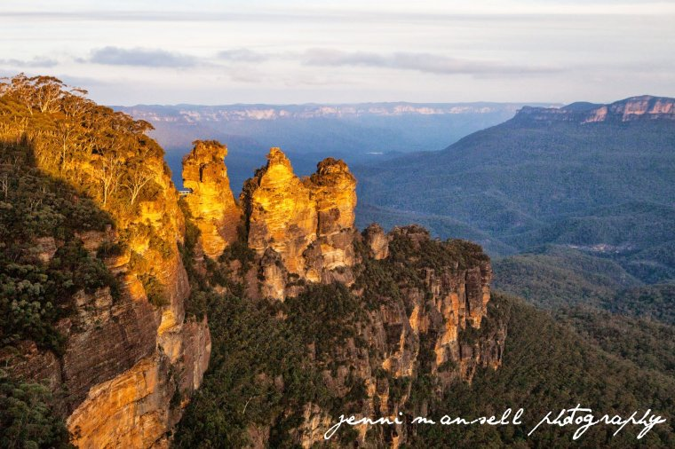 Loved seeing The Three Sisters at sunset!