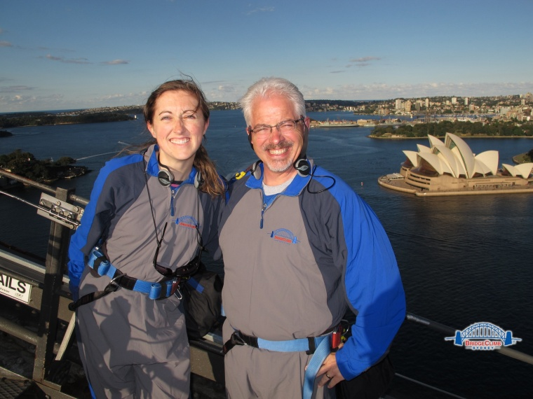 Lee and I on our bridge climb.