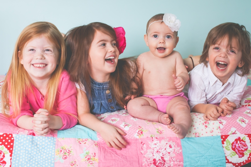 #1-  Having a super fun photo shoot with my nieces and nephew.