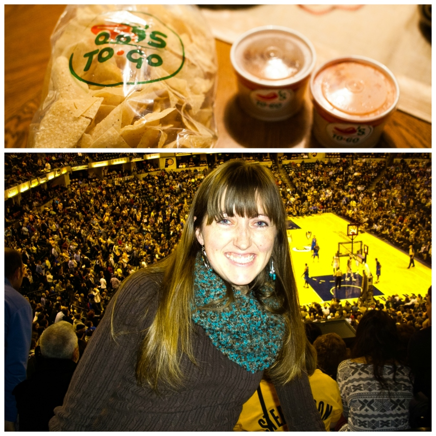 #11-  Chili's chips and salsa and going to my first Pacers game since I went to one in college back in 2000.