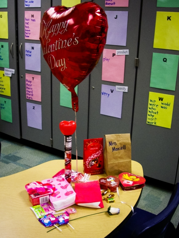 #12-  Feeling the love from students on Valentine's Day