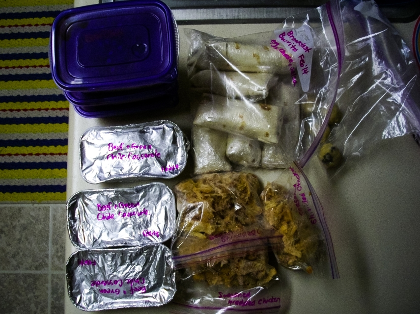 #27-  A sister-in-law who knows me well and gave me home-cooked frozen food for my birthday