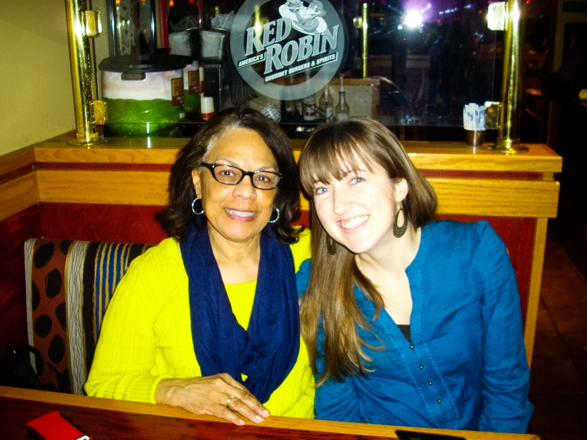 #32-  Laughing and enjoying a great dinner with my Indy Mom, Sheilah