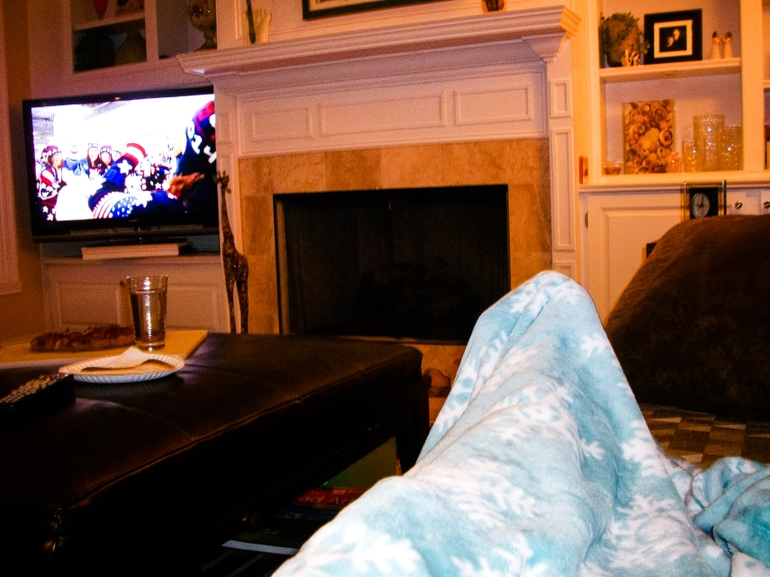 #6- Watching the Olympic Opening Ceremonies at The Palace (i.e. not our homes) with Angie.