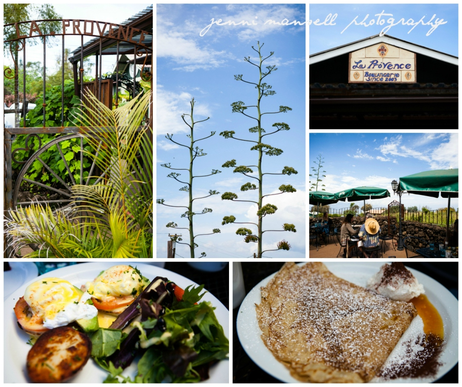 La Provence french restaurant in Kula for brunch- eggs benedict and a lilikoi (passion fruit) crepe... fantastic!