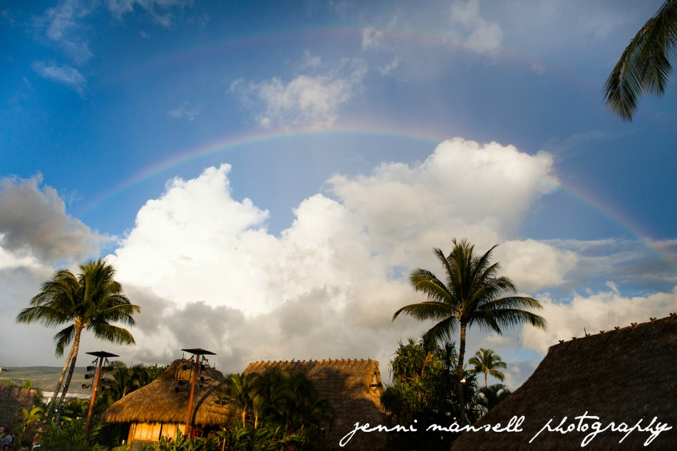 Our double rainbow present!