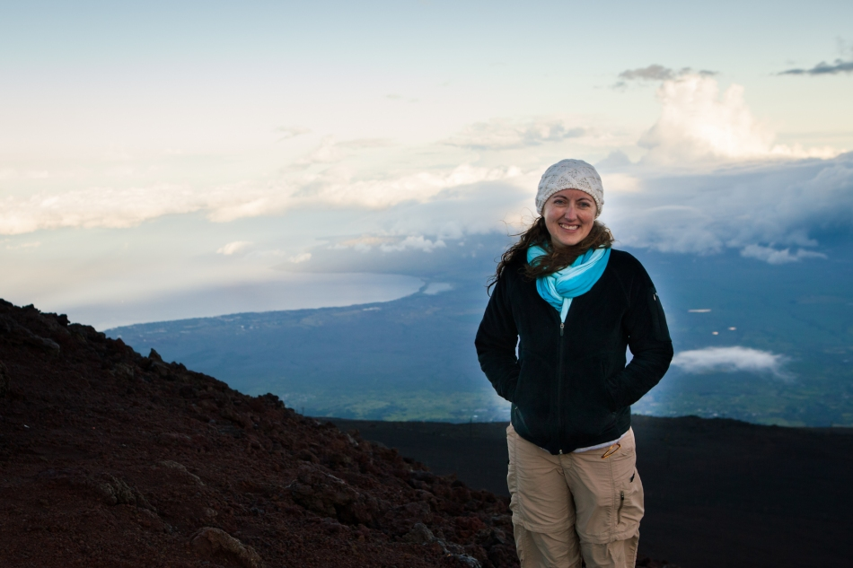 Here I am near the Haleakala Crater