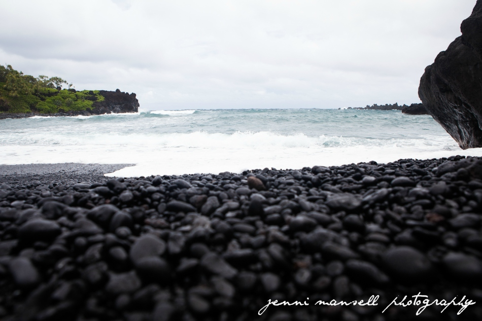 Wai'anapanapa Black Sand Beach