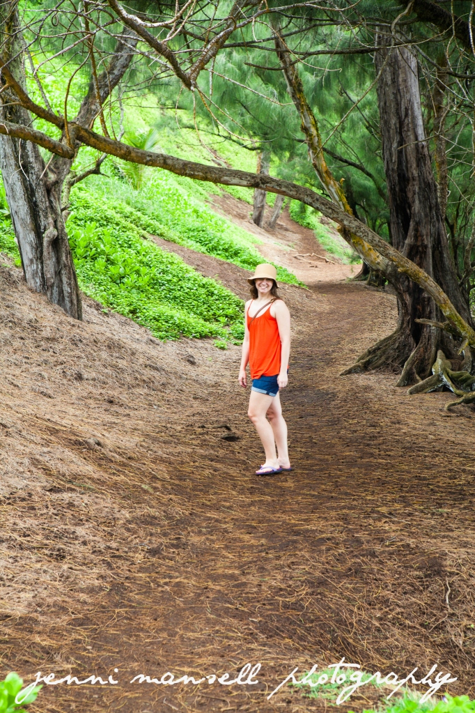 Near Hana- this was the non-treacherous part of the hike to the red sand beach.