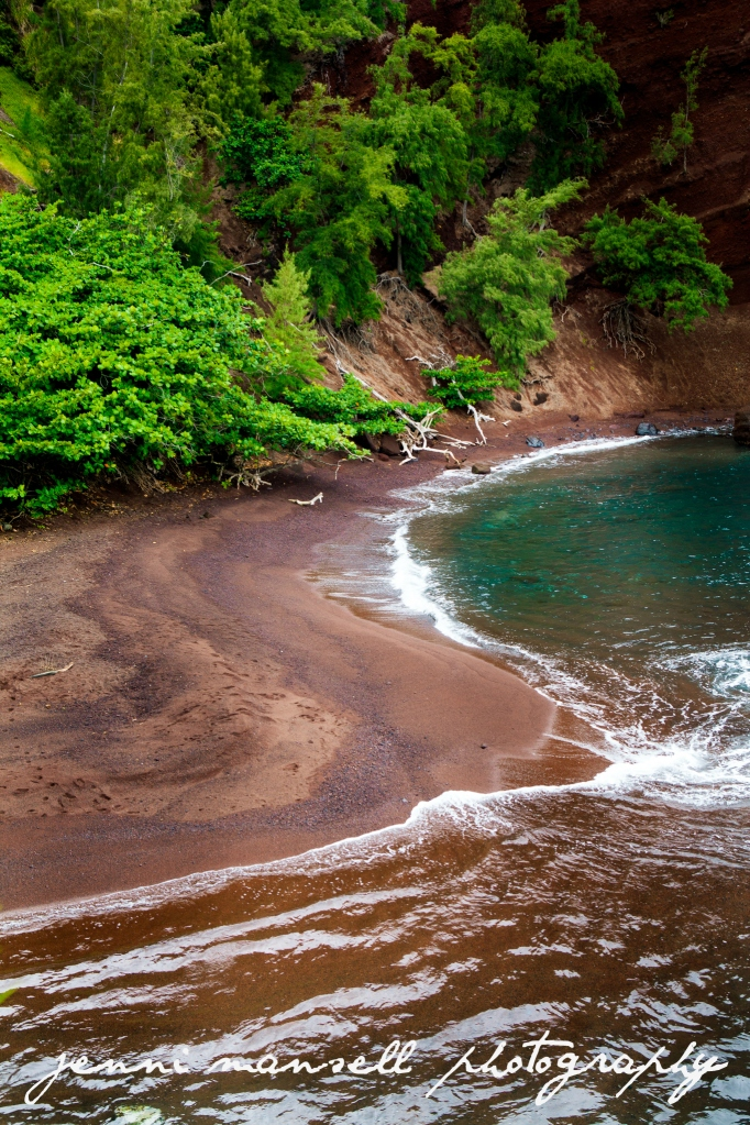 Red Sand Beach on Kaihalulu Bay
