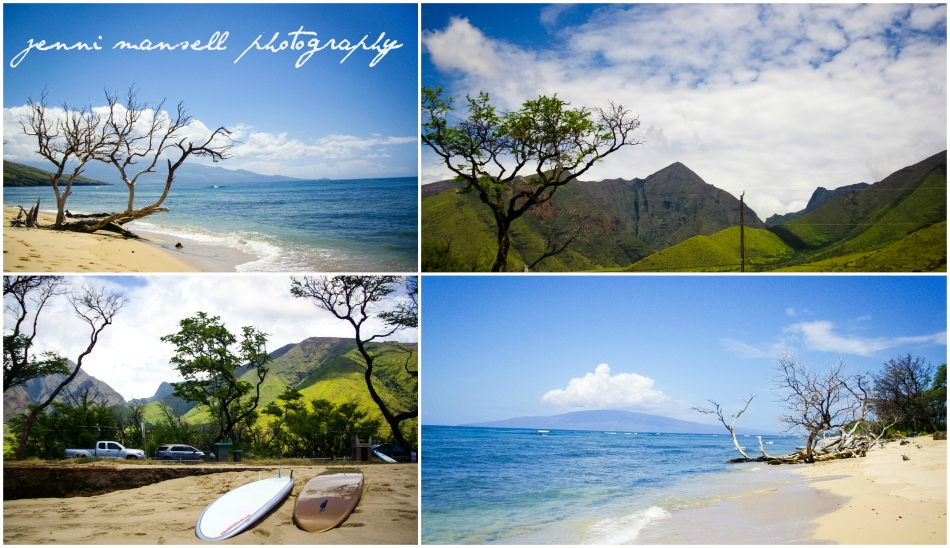 Ukumehame Park- the view from the paddle board of the West Maui mountains was seriously spectacular.