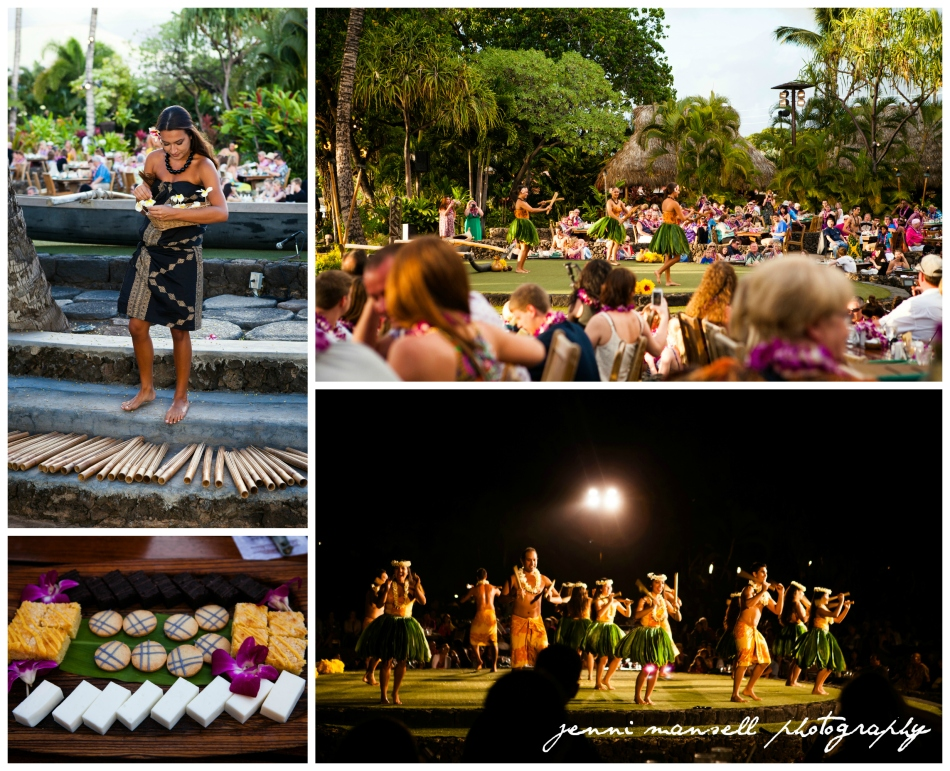 Hula dancing and dessert (passion fruit cake and lavender-iced cookies were my favorite)