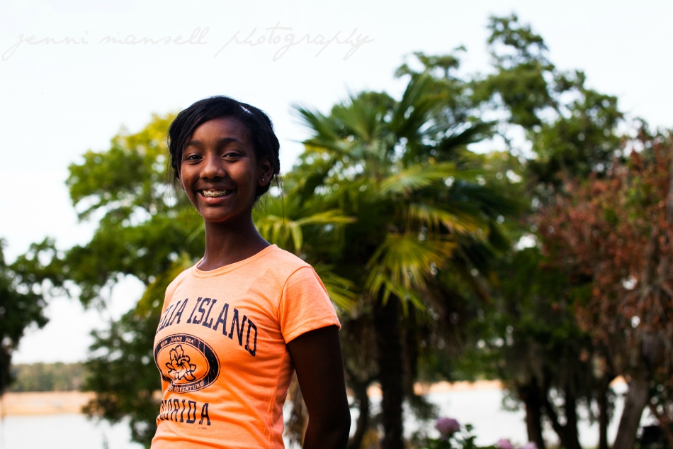 My lovely niece who accompanied me all over the plantation chasing the good light.  :)