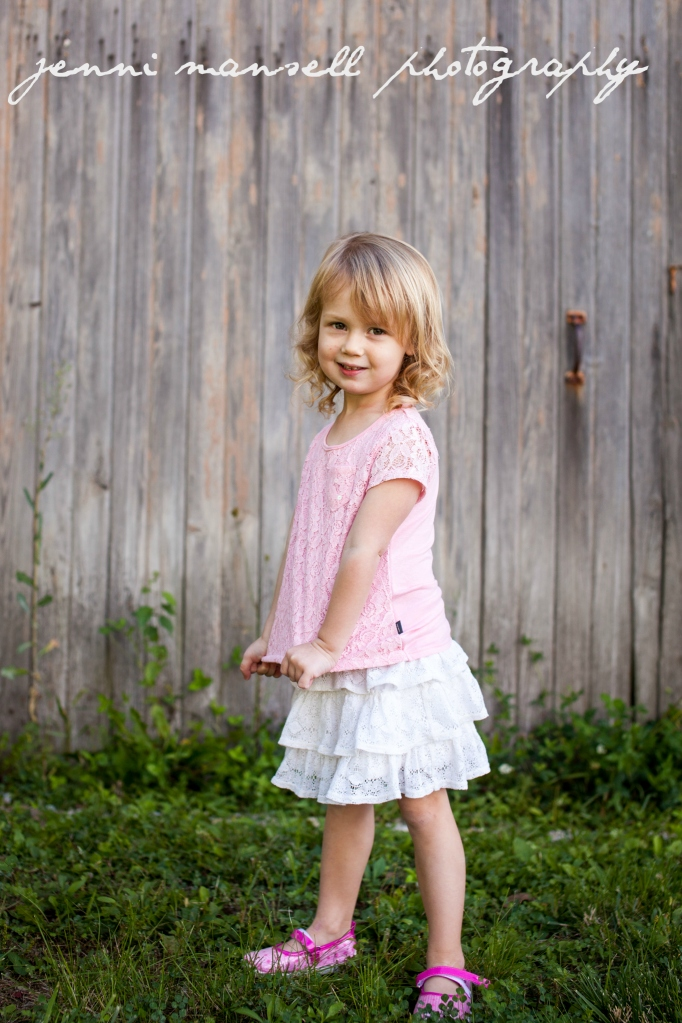 Such a sweet little three-year-old.