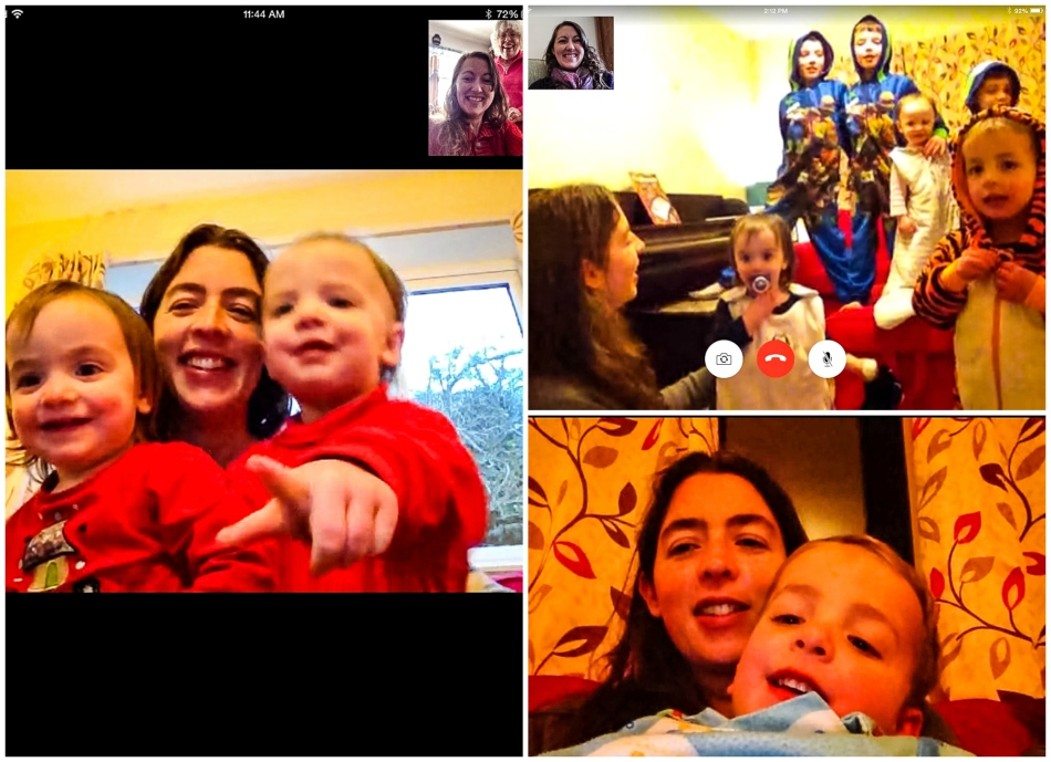 #27- Various facetime chats with my sister and her family across the pond throughout February.