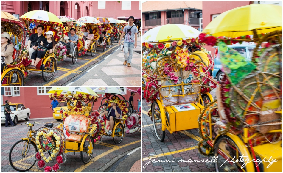 Decorated Trishaws are quite a sight to behold!