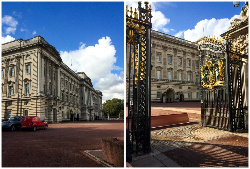 Before heading home, I went on a walk to see Buckingham Palace.