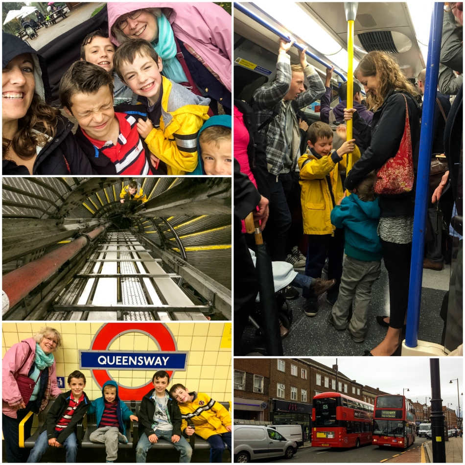 We had an adventurous trip home in the rain, taking many steps deep into the underground to catch the tube then a bus home.
